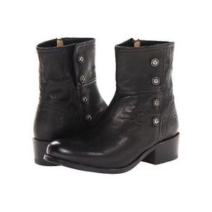 Frye black ankle low boot